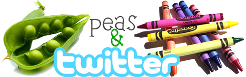 peas and crayons twitter button