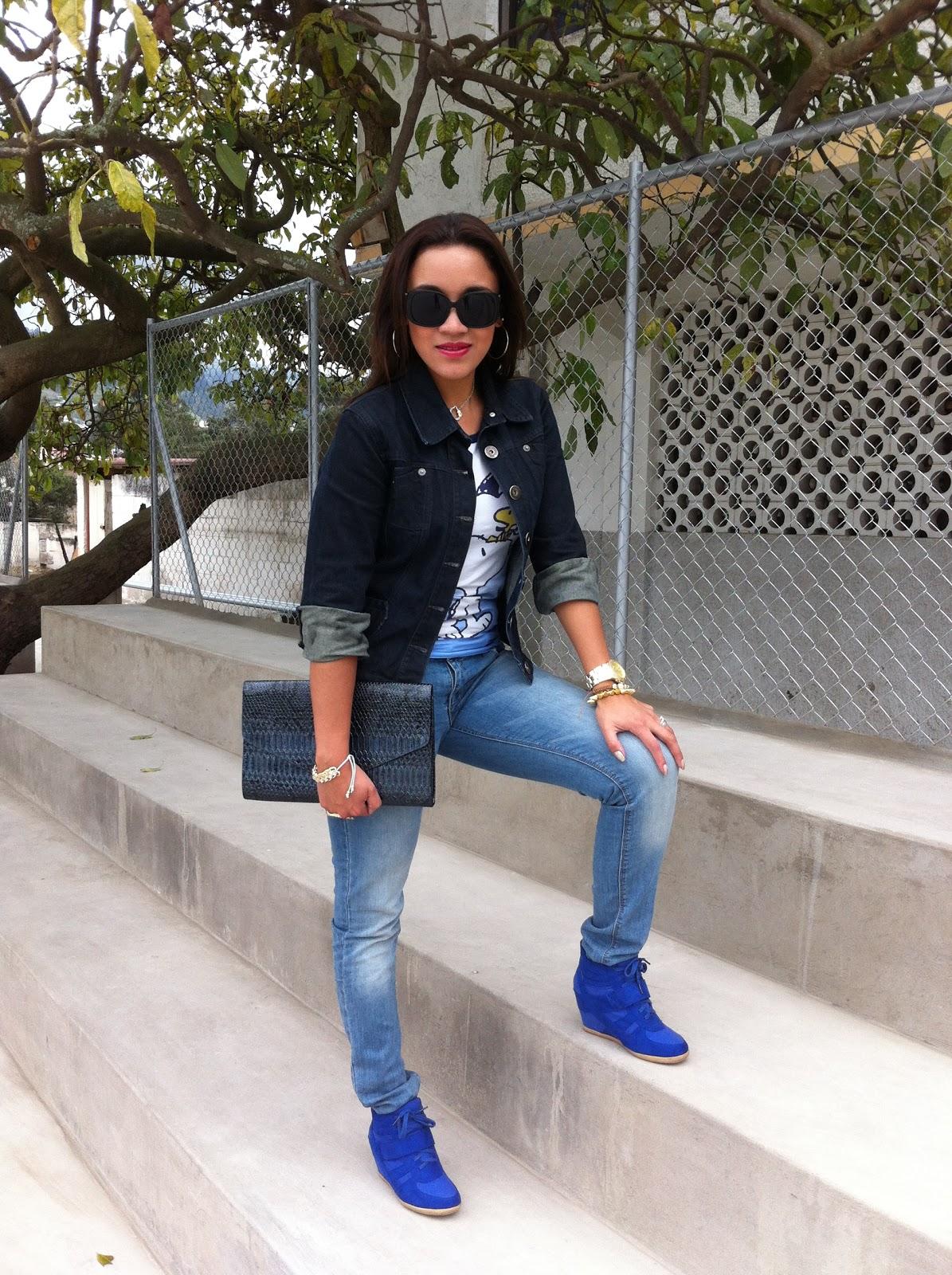 El outfit de la semana algo prestado algo azul - Tru00e8s Chic by Paulina