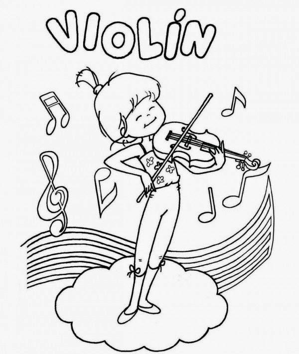 Mi Blog de los trotamúsicos: Dibujos para colorear: instrumentos ...