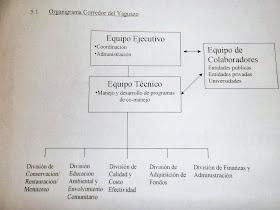 Organigrama del Corredor del Yaguazo