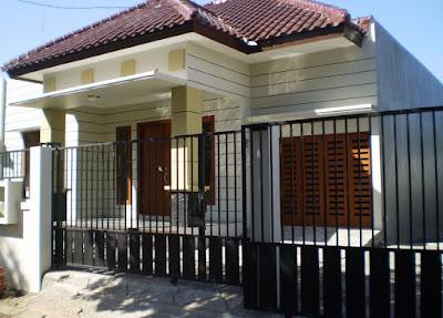 Pagar depan rumah minimalis modern