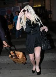 Lindsay Lohan Spread-Eagle