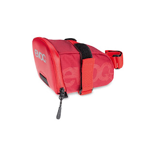red bike saddle bag