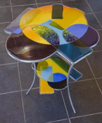 Unique stained glass table #2
