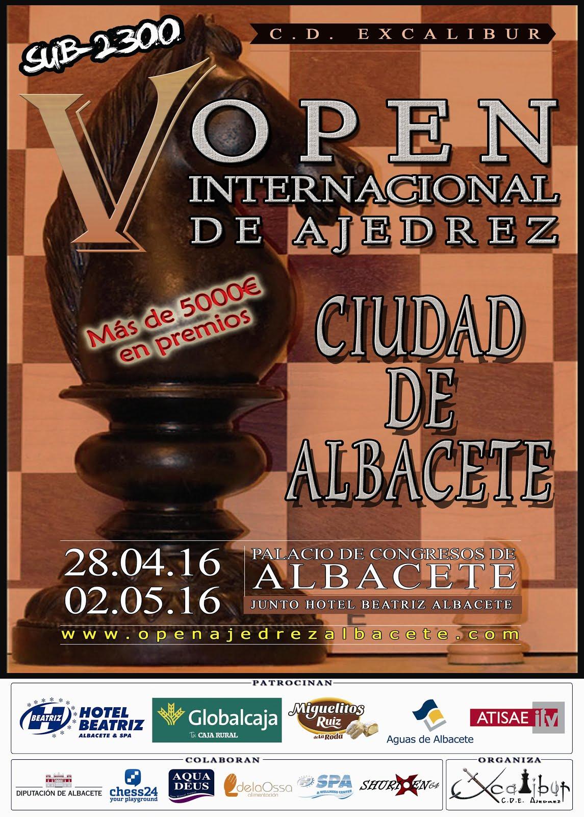 """V Open Internacional Sub-2300 """"Ciudad de Albacete"""""""