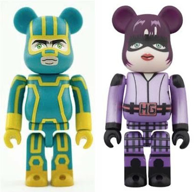 Kick-Ass 2 100% Be@rbrick Vinyl Figures by Medicom - Kick-Ass & Hit-Girl