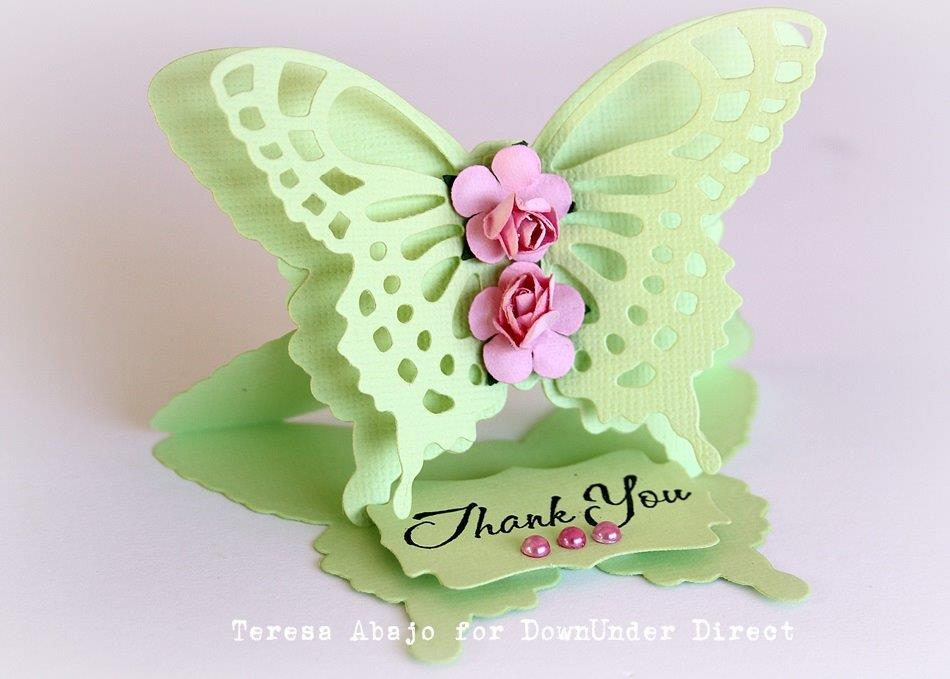 how to make a flying butterfly card