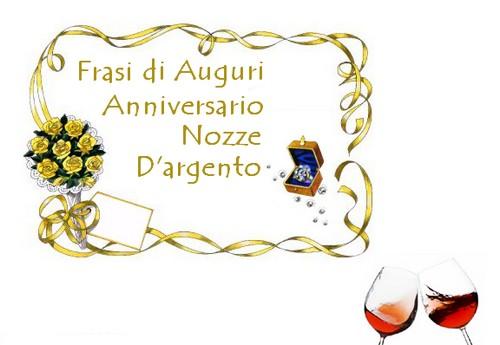 Poetizzando frasi di auguri anniversario nozze d argento for Immagini auguri 25 anni matrimonio