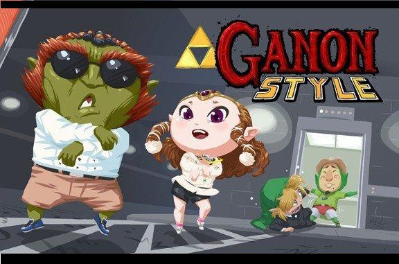 Zelda characters Parody, link and fellows, as Psy's Gangnam Style video clip