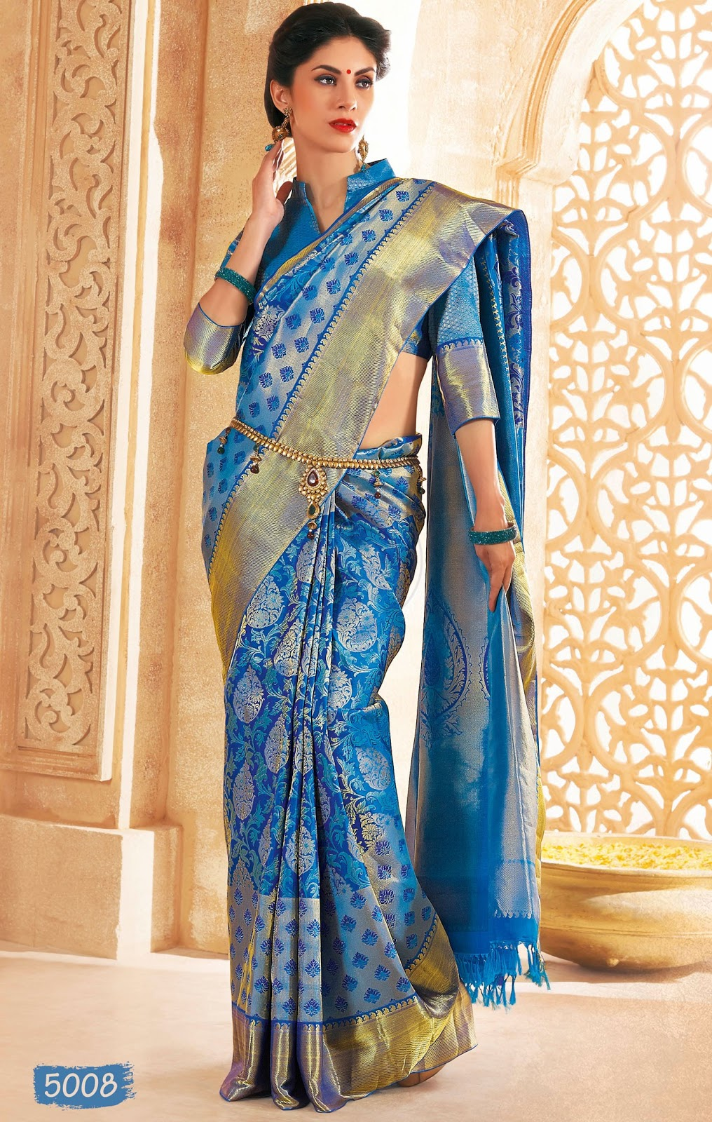 Latest  Chennai Silk Saree Designs Stills