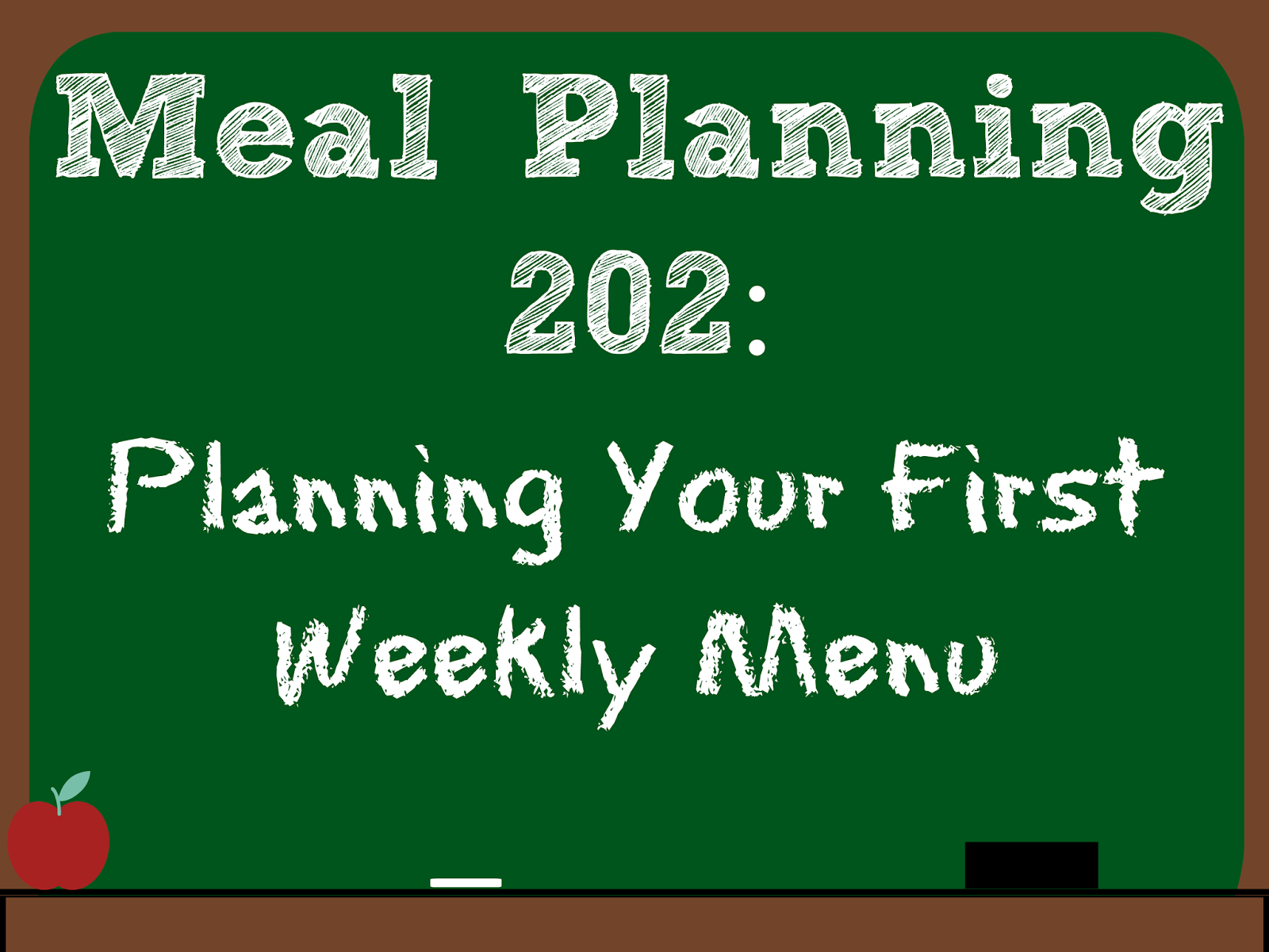 plan a weekly meal menu