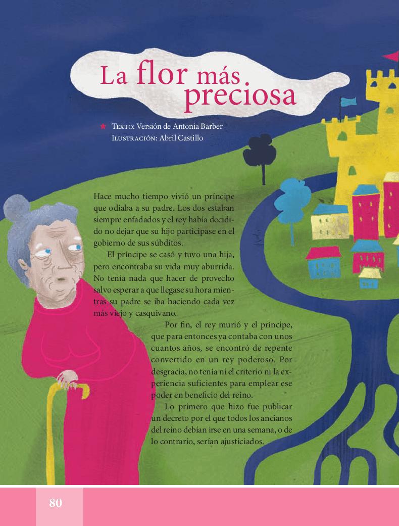 La flor más preciosa - Español Lecturas 5to 2014-2015