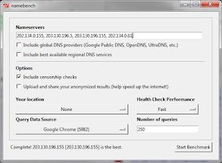 Mencari Server DNS Telkom Speedy Tercepat