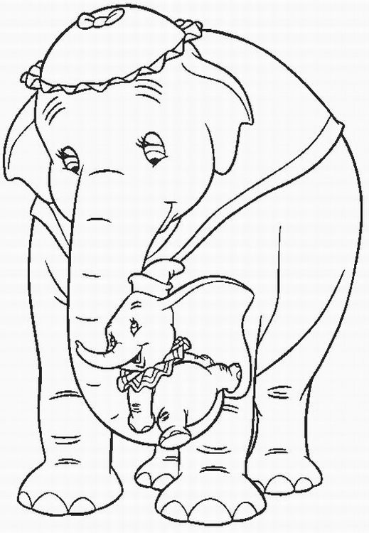 Dumbo Coloring Pages Team colors