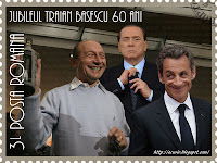 Funny stamp Jubileul Băsescu Sarkozy Berlusconi