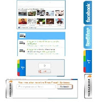 Social Media Subscription 4 In 1 Sharing Widget