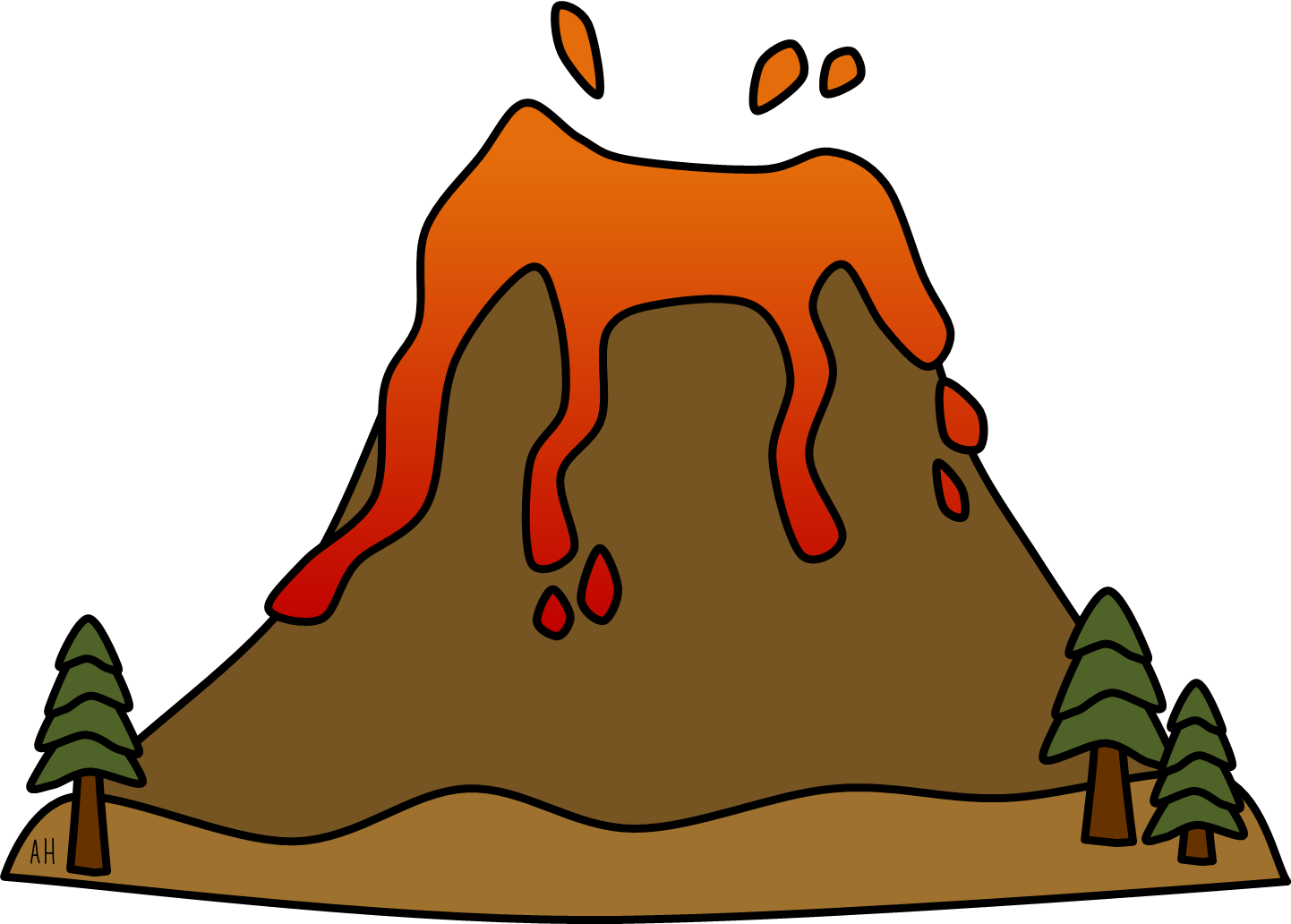 how to make a small volcano