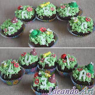 http://ideandoart.blogspot.com.es/2013/05/cupcakes-con-bichejos-para-dos-bichitos.html