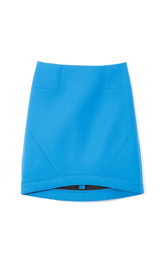 Tibi Ultramarine Bonded Techy Twill Skirt 2013 Fall