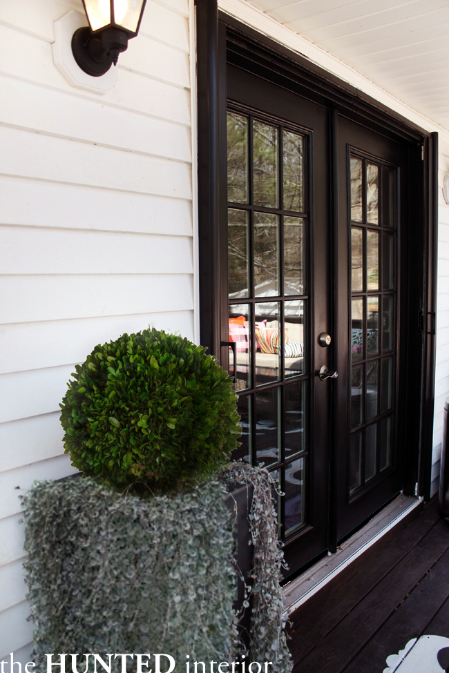 The collected interior inspiration black painted french for Black french doors exterior