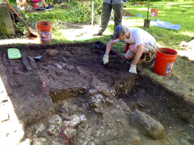 Slave quarters unearthed in Crownsville, Maryland