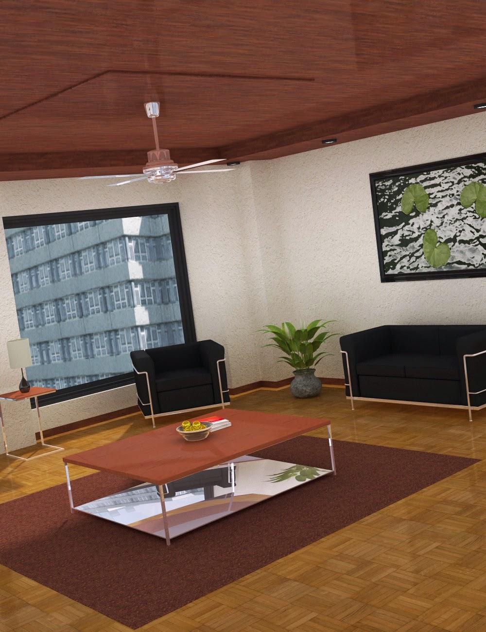 Download daz studio 3 for free daz 3d interior room for Living room 2 for daz studio
