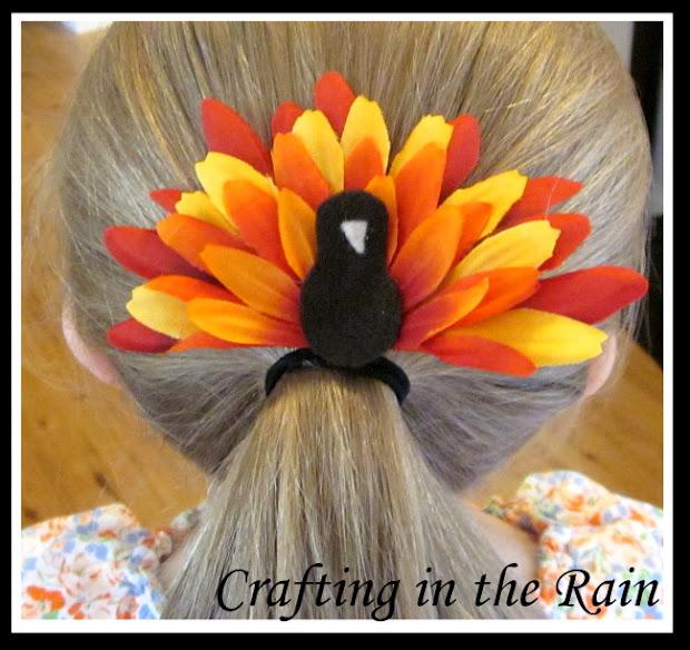 flower turkey crafting