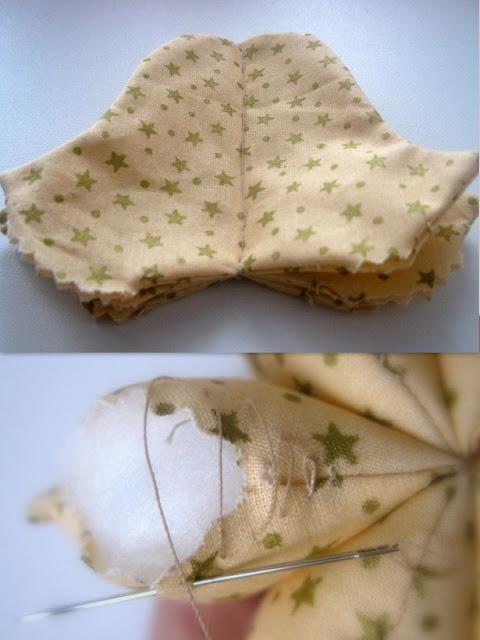 Колокольчик из ткани