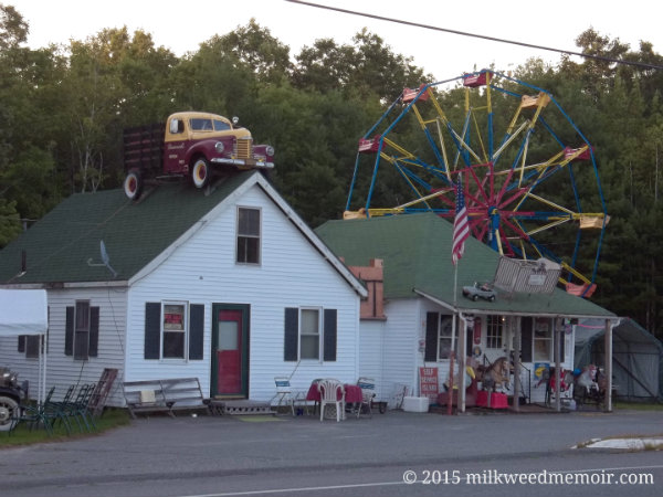 Curiosities surround for-sale business in Steuben, Maine