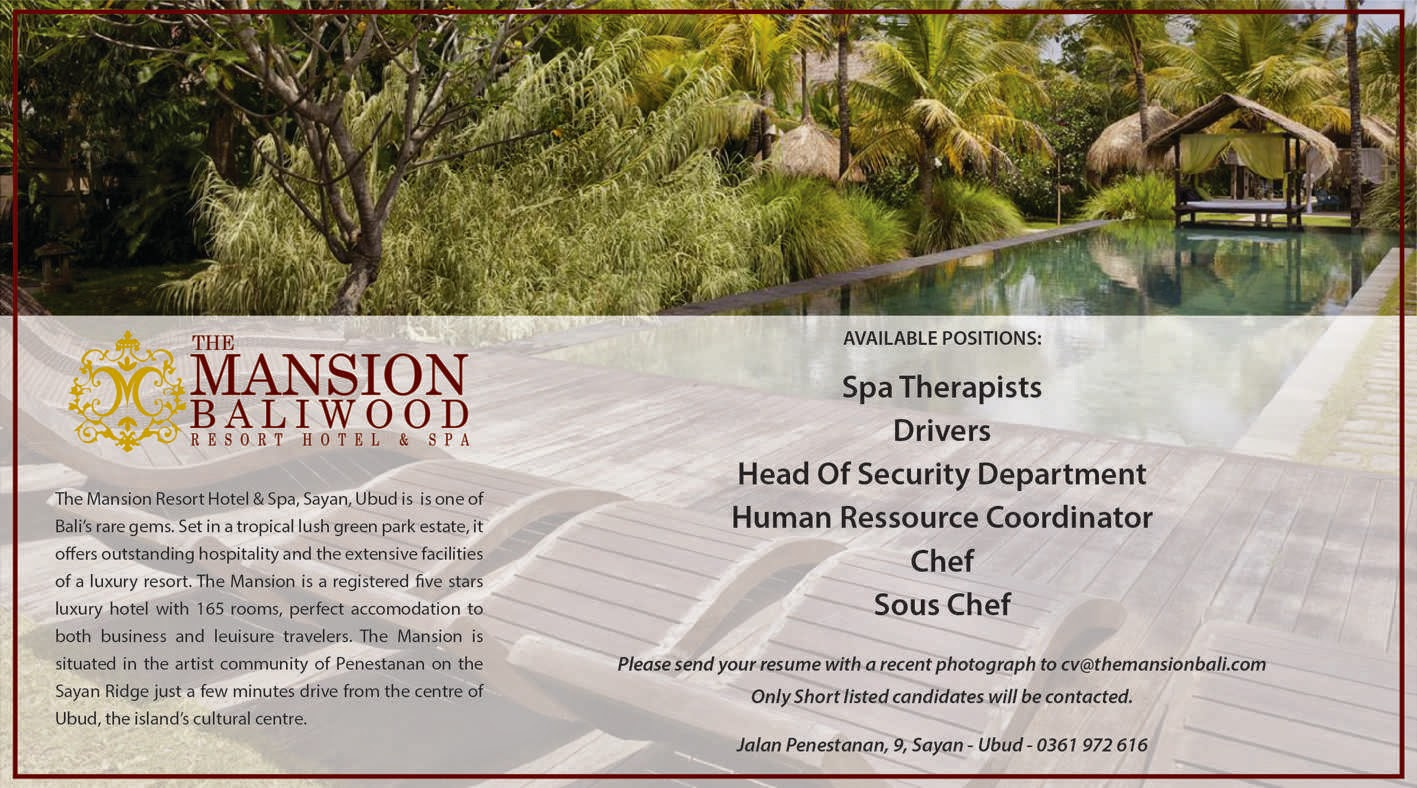 The Mansion Bali Wood Resort Hotel And Spa Karirhoteliercom Voucher Intercontinental Jimbaran Hhrma Hospitality Job Overseas Cruise Line Portal In Indonesia