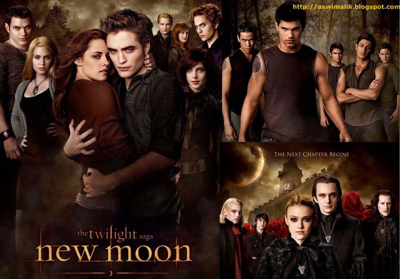 kisah cinta dari novel new moon yang merupakan novel lanjutan dari