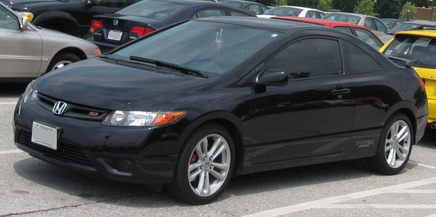 honda civic si coupe black vivid car. Black Bedroom Furniture Sets. Home Design Ideas