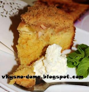 Яблочный пирог с апельсиновой цедрой и корицей