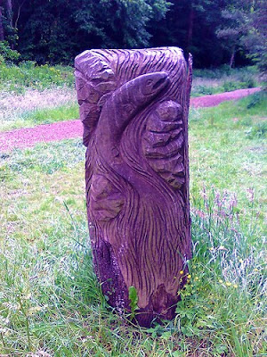 Salmon Carving Bute Park Cardiff