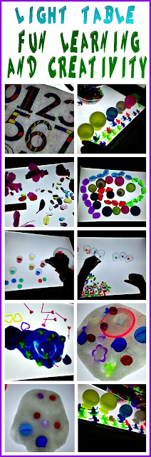 light table ideas for learning