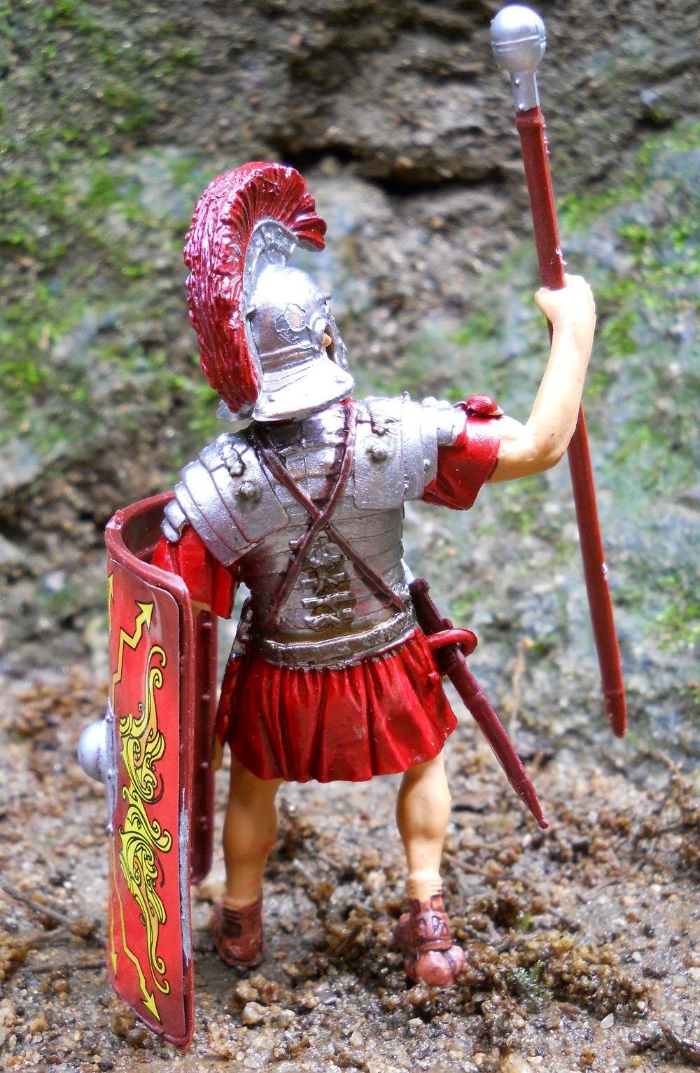 maqueta a escala de legionario romano