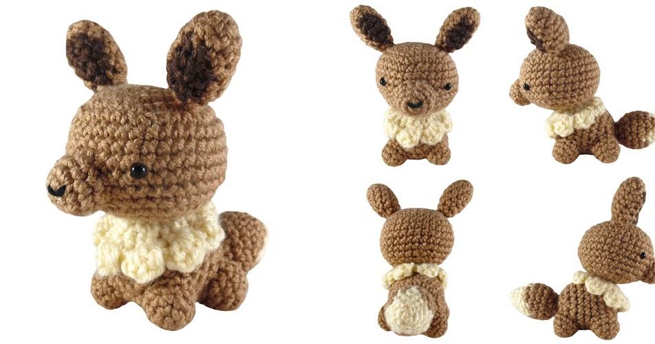 Amigurumi Crochet Pattern Etsy : i crochet things: Free Pattern: Mini Eevee Amigurumi