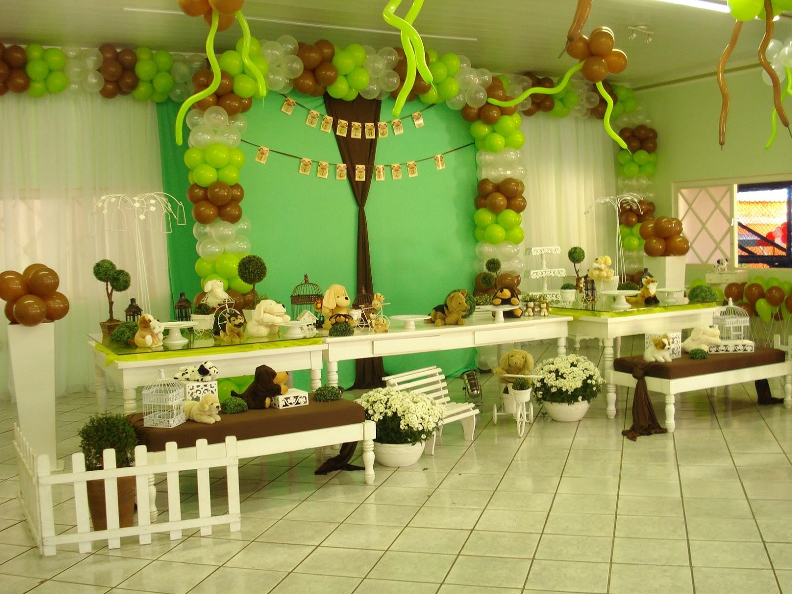 Decoracao De Sala Verde Com Marrom ~ Raul & Ricardo Festas Decoração de aniversário Infantil