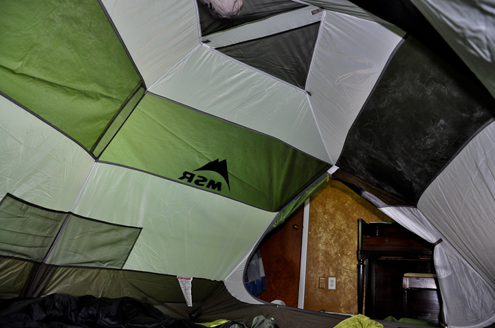 Inside it feels HUGE. The gear lofts up top are convenient especially if you want to dry something out. & New Tent - MSR Holler | My Medical Transformation