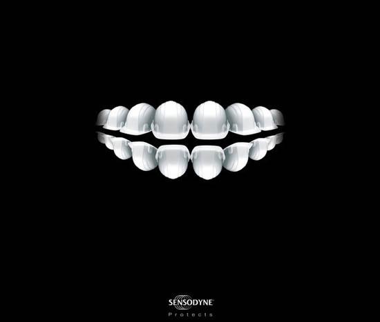 anúncios minimalistas e criativos na internet - Sensodyne