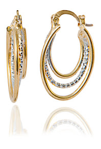 Triple Oval Hoop earrings & 18K gold plating