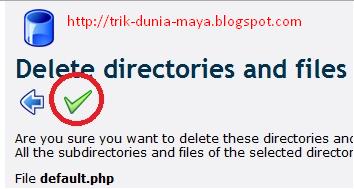 Klik Centang Untuk Menghapus File Di 000webhost.com