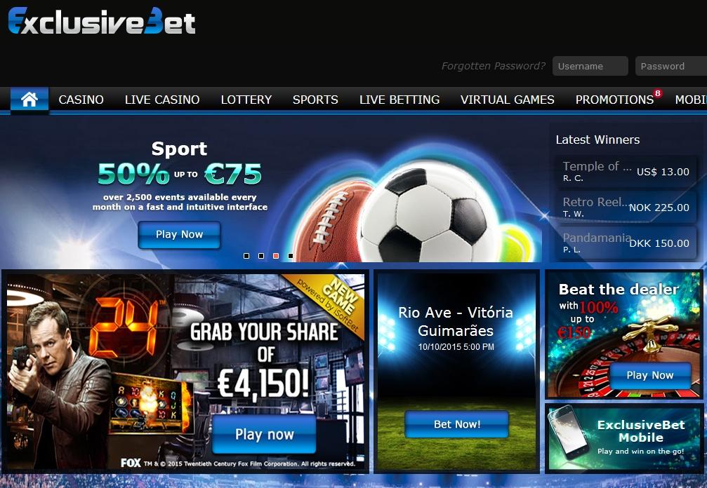 ExclusiveBet Screen