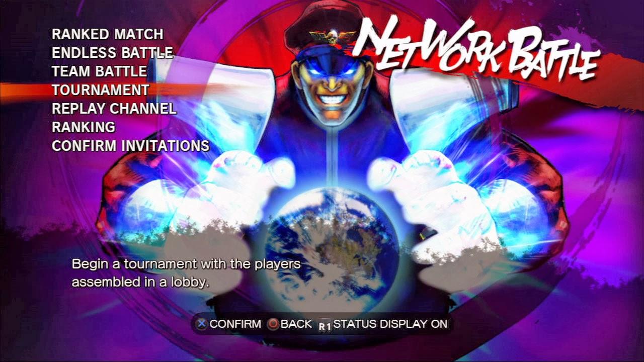 wallpaper logo Street Fighter 4 title screen