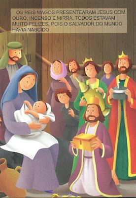 O nascimento de Jesus-desenho colorido