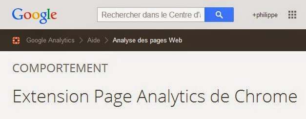 essai extension page analytics pour chrome