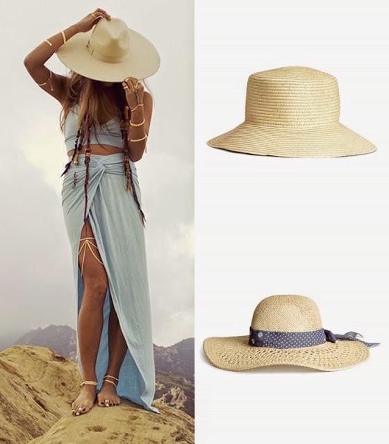 Peças moda tendencia verão 2015 chapeu de palha HM