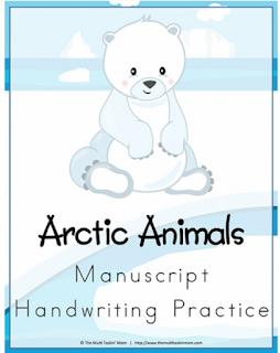 image - Freebie Arctic Animals Handwriting Practice