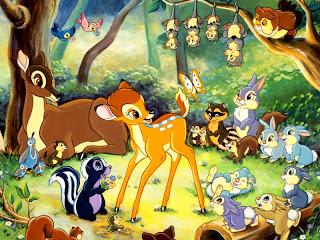 Una de las escenas de la película 'Bambi'