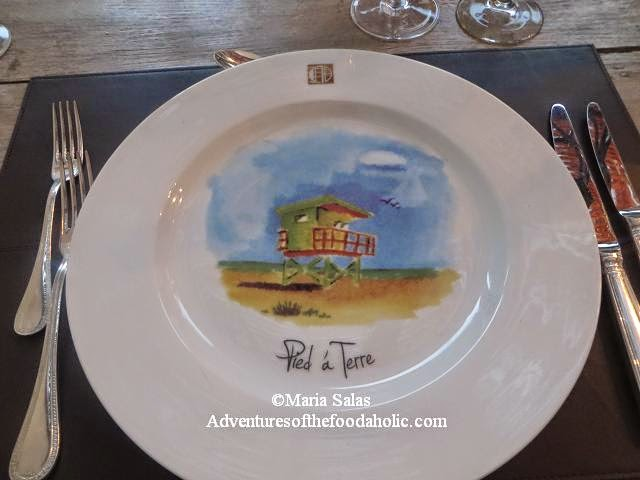 Hand-painted plates & Adventures of The Foodaholic: Pied a Terre at the Cadet Hotel